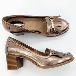 Giani Bernini Womens Seraa Dress Pumps Sz 9 M Gold